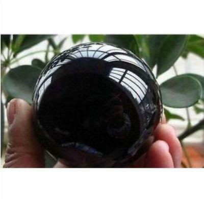 New Sell OBSIDIAN POLISHED BLACK CRYSTAL SPHERE BALL 40mm +stand