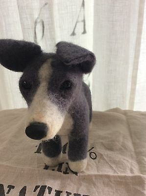 Felt Whippet/Greyhound from Shelter Pups Rescue