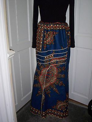 African Print Cotton Maxi Skirt Size 14/16