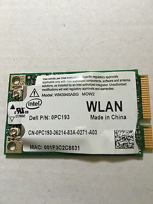 Intel WIFI CARD DELL P/N 0PC193 Wireless Card for DELL Laptops