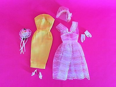 Vintage 1960-61 Original Barbie Orange Blossom #987 Outfit - Complete