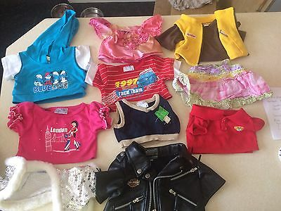 Large Bundle Of Build A Bear Clothes And Accessories