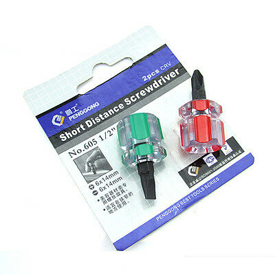 Phillips Screwdriver Mini Screw Driver Short Small Split Repair Tools Kit Set ZO