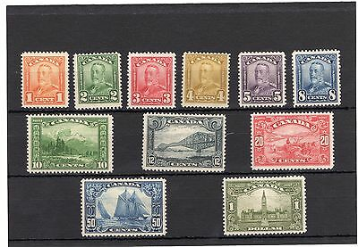 Canada 1928-1929 SG#275-285 KGV Definitives MH  Fine to VF all OG