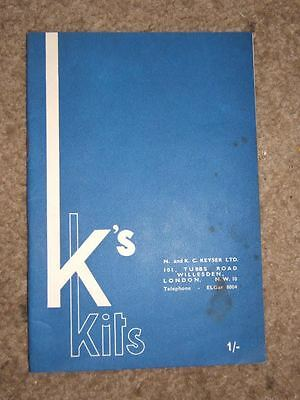 K's Kits Illustrated and Priced Catalogue C 1962 32 pages with card covers