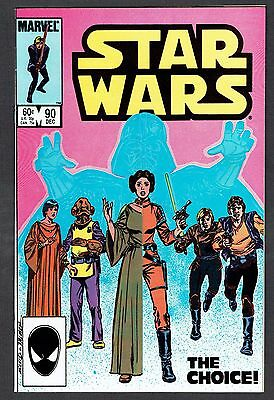 Star Wars #90 Marvel Comics Copper Age 1984 VF+ Lucas Force Awakens Last Jedi
