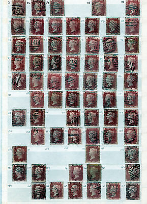 GB Stamps. QV. 1d Red Plates X 126 All Different
