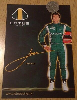 Lotus Racing F1 Team Jarno Trulli Official Issue 2010 Driver Card
