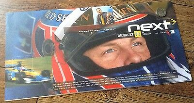 Renault F1 Team Jenson Button 2002 Newsletter With CD Rom Full Of Team Pictures
