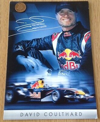 Red Bull Racing F1 Team David Coulthard 2005 Large Driver Card