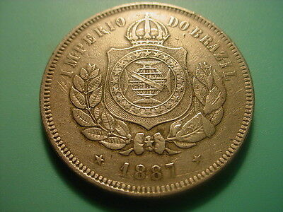 Brazil 1887 200-Reis In Very Nice Condition