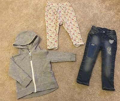 Bundle Of Baby Toddler Girls Clothes Size 18-24 Mth Next H&m Jeans Hoodie Ditsy