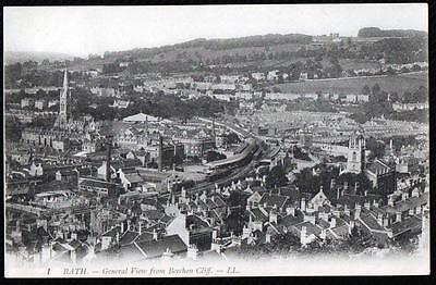 Bath. Somerset.view From Beechen Cliff.. Printed# Ll #1 Vintage  Postcard.