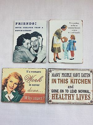 Funny Retro Metal Fridge Magnets Vintage Quotes Gift Home Kitchen