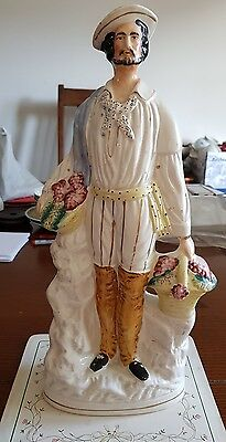 Antique Staffordshire figurine farmer 37cm
