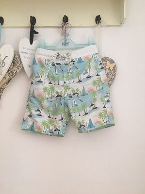 Boys Tropical Pattern Boats Swim shorts From Marks And Spencer Age 12-18 Months