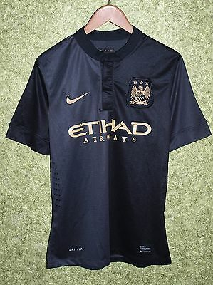 Manchester City England 2013/2014 Player Issue Away Football Shirt Jersey Nike