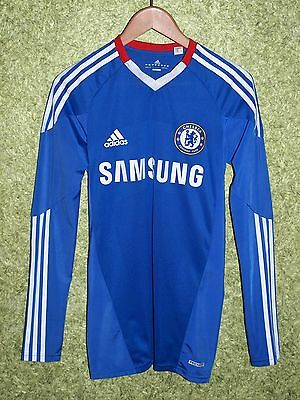 Chelsea 2010/2011 Player Issue Techfit Home Jersey Long Sleeve Football Size S