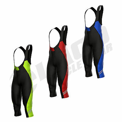 Zimco Cycling Bib Tight Thermal 3/4 Bib Pants Bike Cycle Knickers Padded