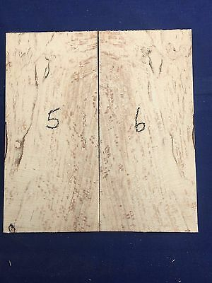Spalted beech guitar headplate / head veneer / wood inlay