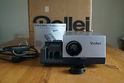 Rollei Slide Projector P360A. Good Condition. Works Well. + Spare Bulbs & Fuses.