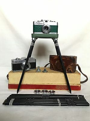 Vintage Cameras - Meopta - Spy Camera Mikroma I & Ii With Accessories