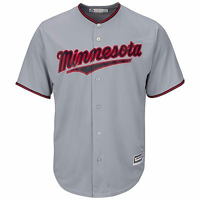 MLB Baseball Trikot MINNESOTA TWINS grau Road Cool base Majestic Jersey