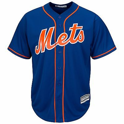 MLB Baseball Trikot NEW YORK METS NY blau Home Cool base Majestic Jersey