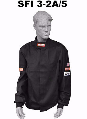 Race Suit Fire Suit Jacket Two 2 Layer Black Adult 2X Dirt Oval Racing