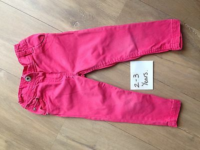 Girls Trousers 2-3 Years. Pink.