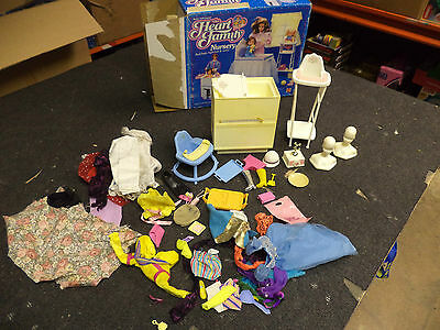 Mattel Genuine Barbie Heart Family Nursery Set+ Clothes!1985! Boxed Cond! Rare!