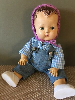 """Early Tiny Tears. Rubber Body In Good Condition 12"""""""