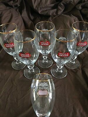 Stella Artois Chalice 50 CL NEW Set Of 6 Six PUB XL Beer Glasses!!!