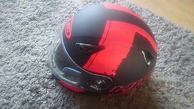 HJC Full Face Matte Black/Red Medium Riding Helmet