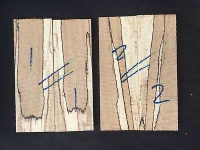Spalted beech bookmatched knife scale / knife handle sets