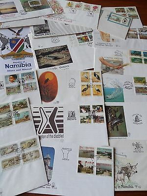 Collection of 20 1st Day Covers of Namibia, Postmarked, Dated  1990-1994