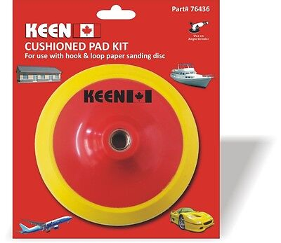 "Pack of 1, Keen #76443, 6"" x 5/8""-11 Hook & Loop Face Cushionsed Backup Pad"