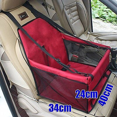 Pet Car Seat Safety Pet Carrier Travelling For Dog Cat Pet Waterproof Red