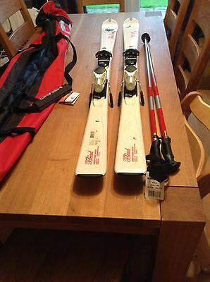 Skis And Poles In Carry Bag