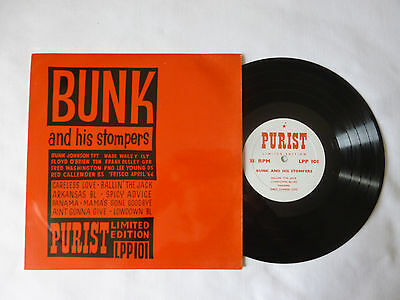 "Bunk Johnson ~ And His Stompers ~ Ex+/ex ~ Rare Ltd Edition Uk 10"" Jazz Vinyl Lp"