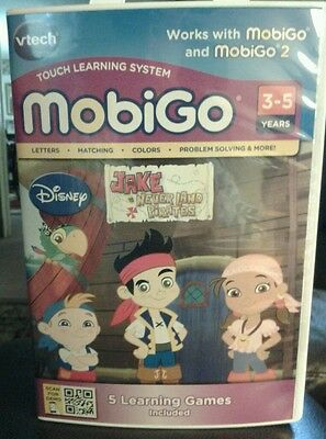 New Vtech Mobigo Jake & The Never Land Pirates (5 Learning Games Included)