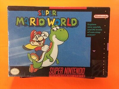 Super Mario World SNES Black Label Sealed, Nintendo
