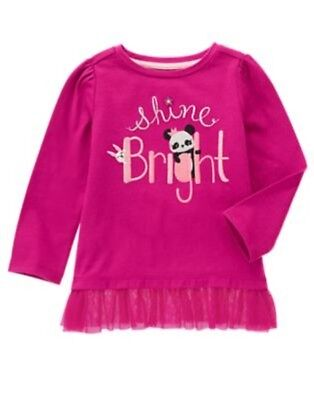 GYMBOREE STARRY NIGHT Shine Bright PANDA GRAPHIC TEE 12 18 3T 4T 5T NWT
