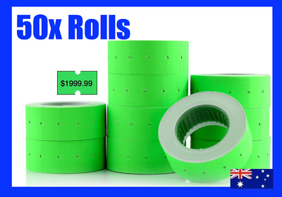 30 Fluro Pricing Price Tag Tagging Gun Label Rolls Bulk Green