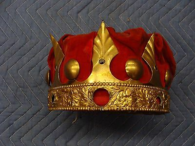 RARE Vintage Odd Fellows Masonic Ceremonial crown.--FREE SHIPPING