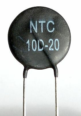 2 x NTC 10D-20 Inrush Current Limiter, Power Thermistor 10 ohm, 6 Amp -ref:425