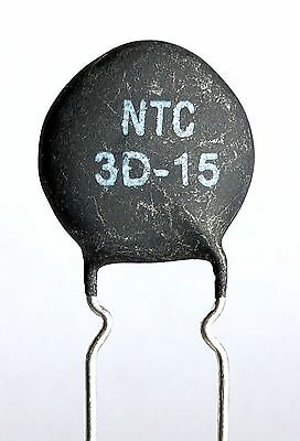 2  x NTC 3D-15 Inrush Current Limiter, Power Thermistor 3 ohm 7Amp -ref:423