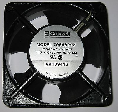 Crouzet 120 mm Fan - 115 V AC - 70 CFM - 50 / 60 Hz - Impedance Protected  115V
