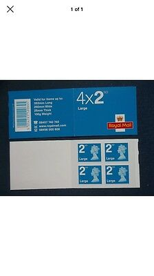 4 Large Second Class Self Adhesive Stamp Booklet