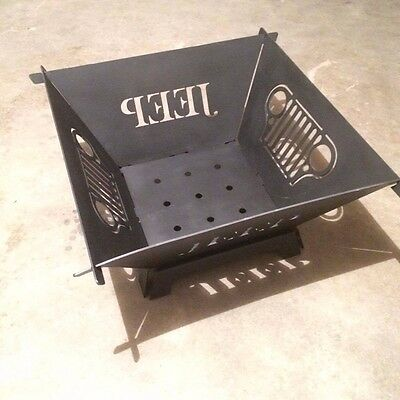 Jeep Fire Pit Collapsible and Portable CNC plasma cut grill design durable